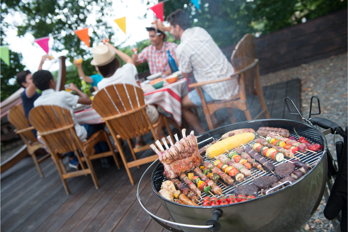 family party with barbecue