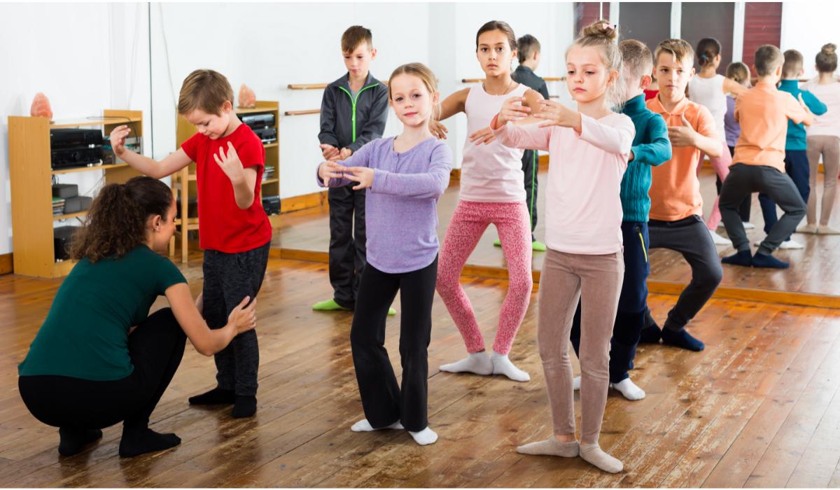 children's in dance studio